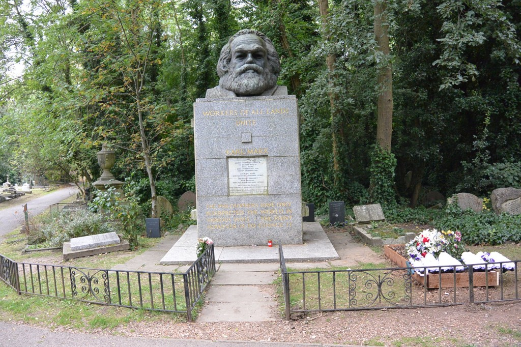 Karl Marx. A very prominent grave here.