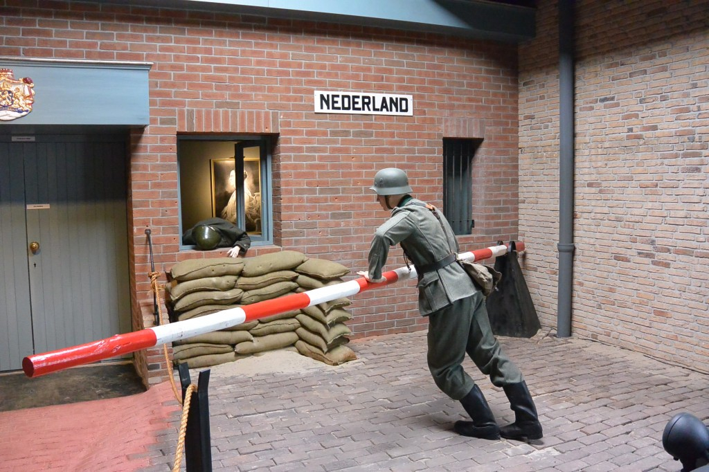 The border crossing from Germany into the Netherlands.